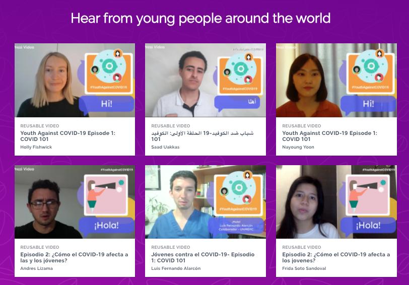 La campaña #YouthAgainstCovid19 invita a personas jóvenes de todo el mundo a tomar acción frente a la pandemia