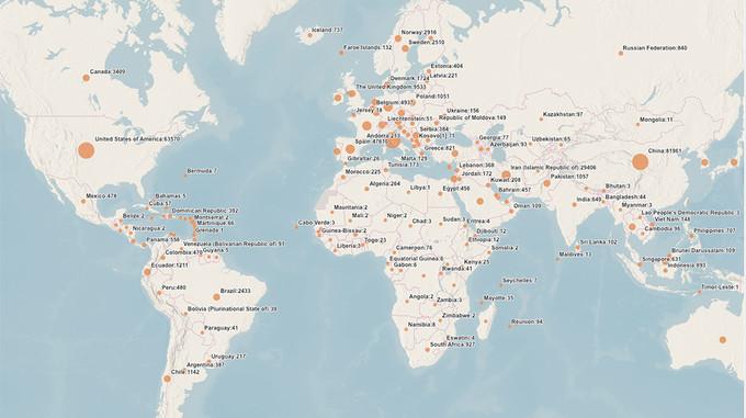 Tableau de bord de la situation de la maladie à coronavirus (COVID-19). Crédit: WHO