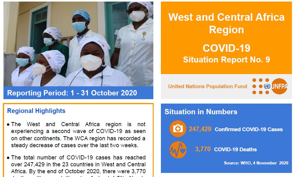 West and Central Africa Region COVID-19 Situation Report No. 9