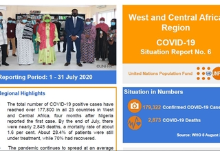 West and Central Africa Region COVID-19 Situation Report No. 6