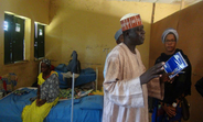 Ms Minott visiting a Yobe health facility