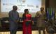 De gauche à droite : M.Ibahima Diong, initiateur du Dakar Business Hub, Mme Cecile Compaoré représentante résidente de l'UNFPA au Sénégal, M. Mabingué Ngom Directeur Régional de l'UNFPA pour l'Afrique de l'ouest et du centre